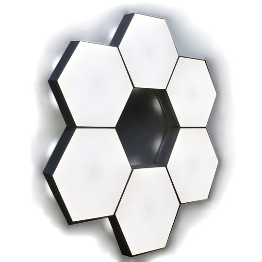 Touch hexagon light white color