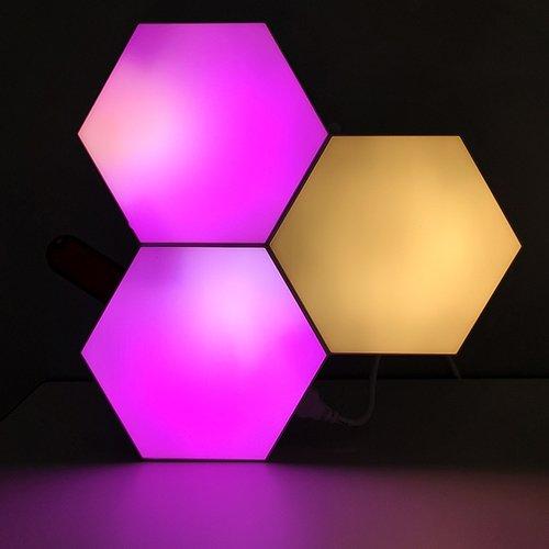 APP operated aurora hexagon lights