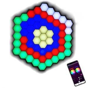 bluetooth APP operated hexagon lights