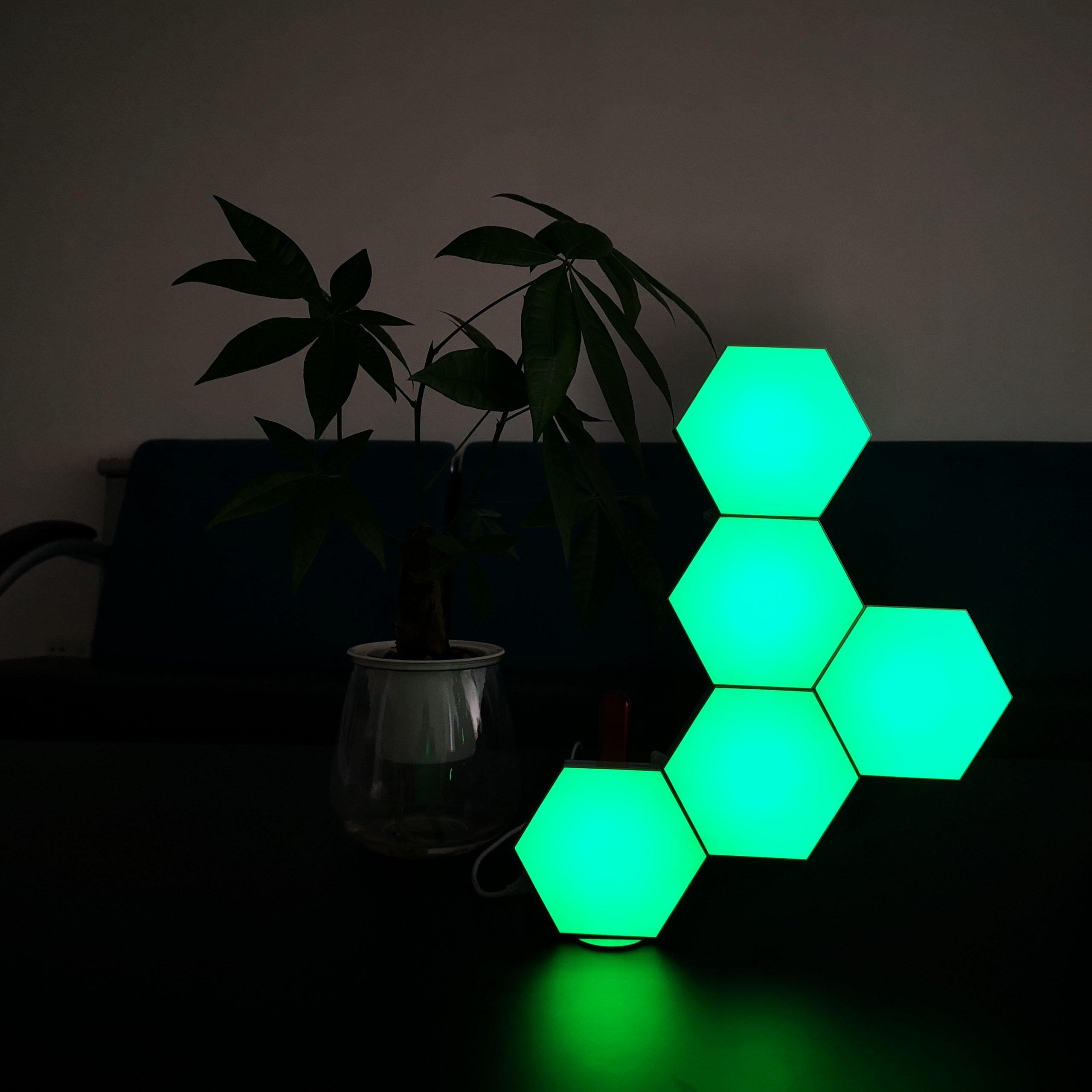 green hex tiles