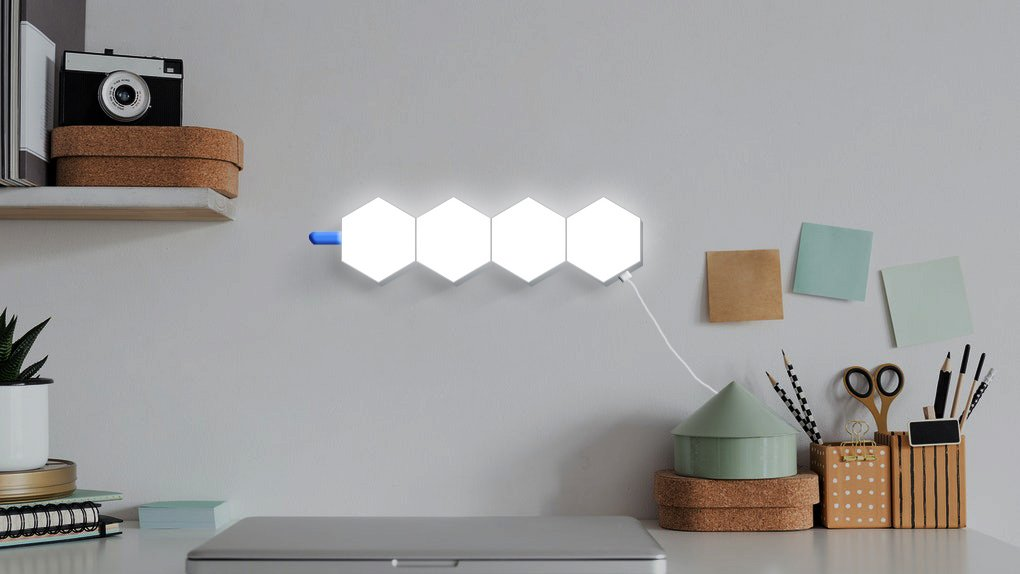 RF remote controlled hexagon lights