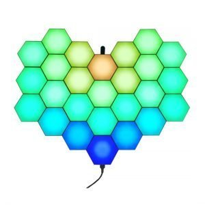 RF remote programmed hexagon lights