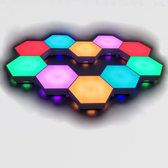 remote controlled and touch controlled hexagon lihgts
