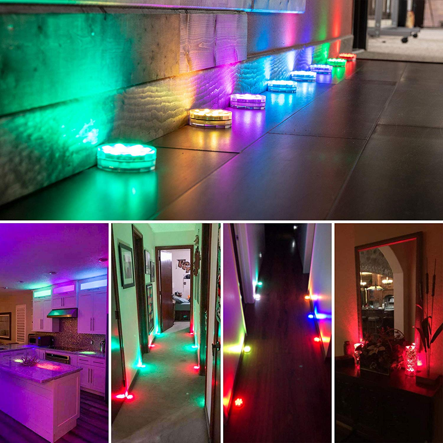 home decore of remote waterproof led light