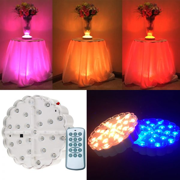 RF remote controlled light base