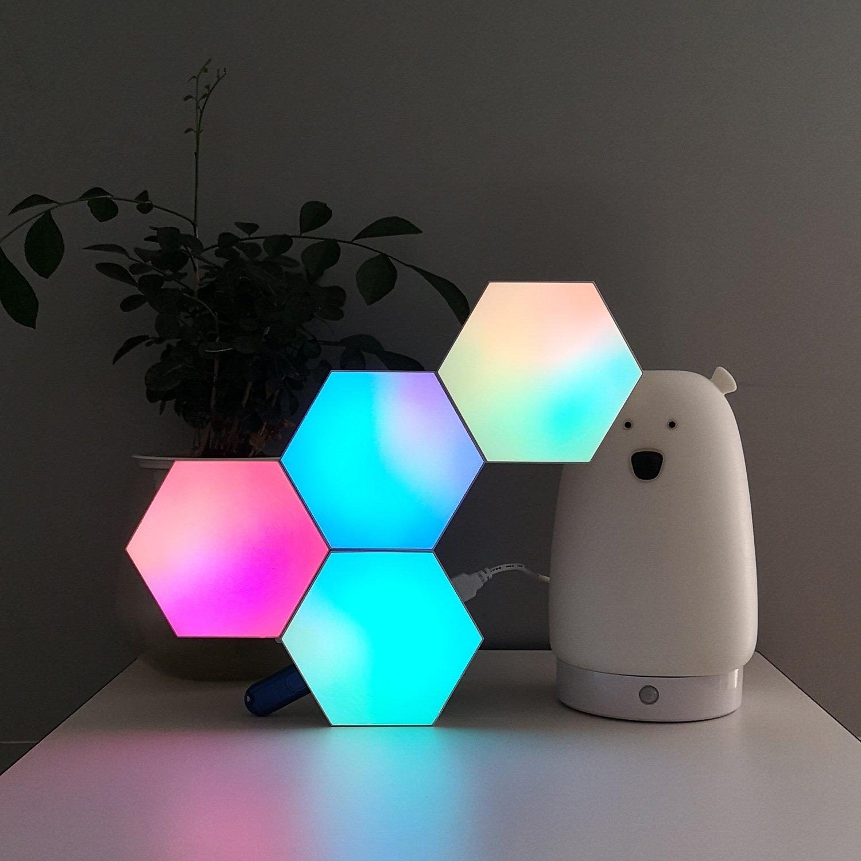 aurora hexagon lights