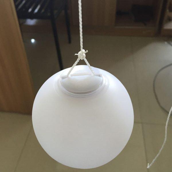 hang the ball light on trees