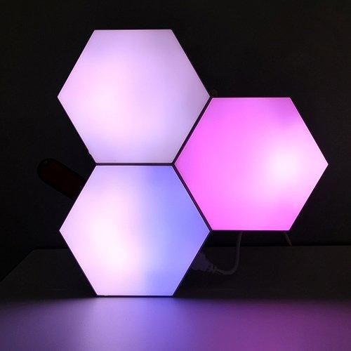 RF programmed aurora hexagon lights