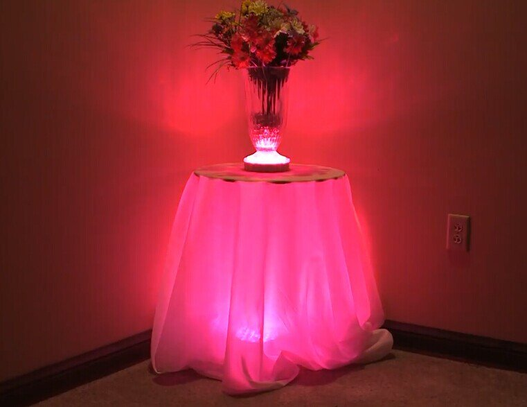 rechargeable light base for centerpieces