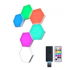 multi color hexagon lights