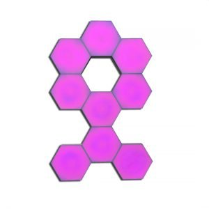 hexagon touch light in pink