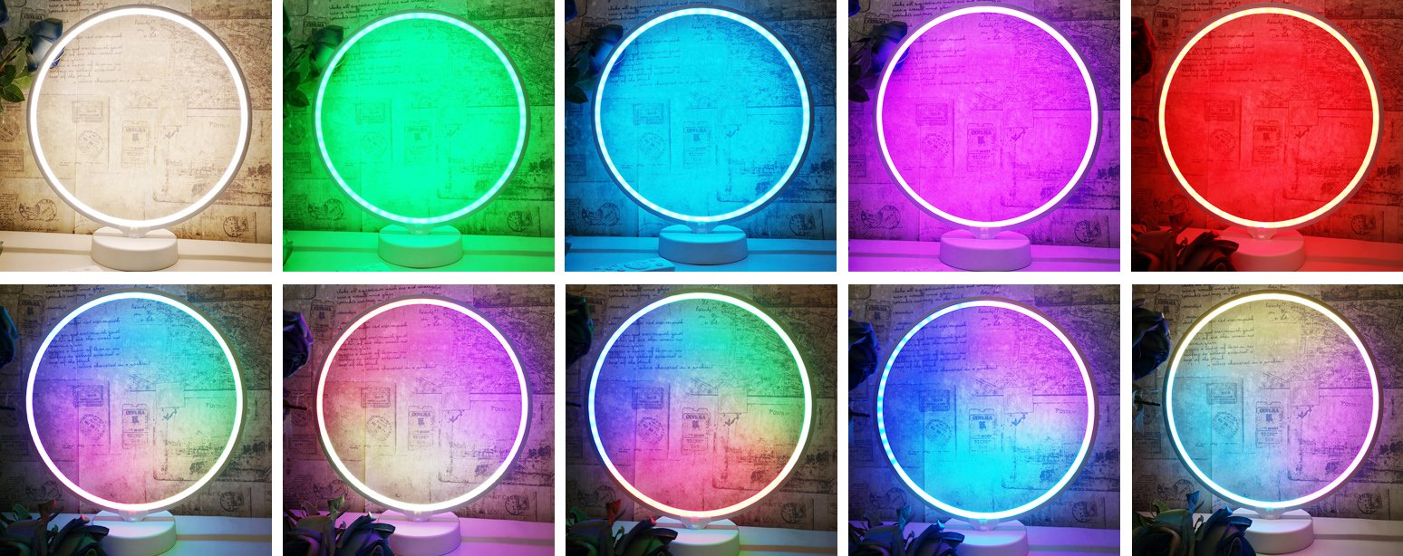 colors of circle table lamp